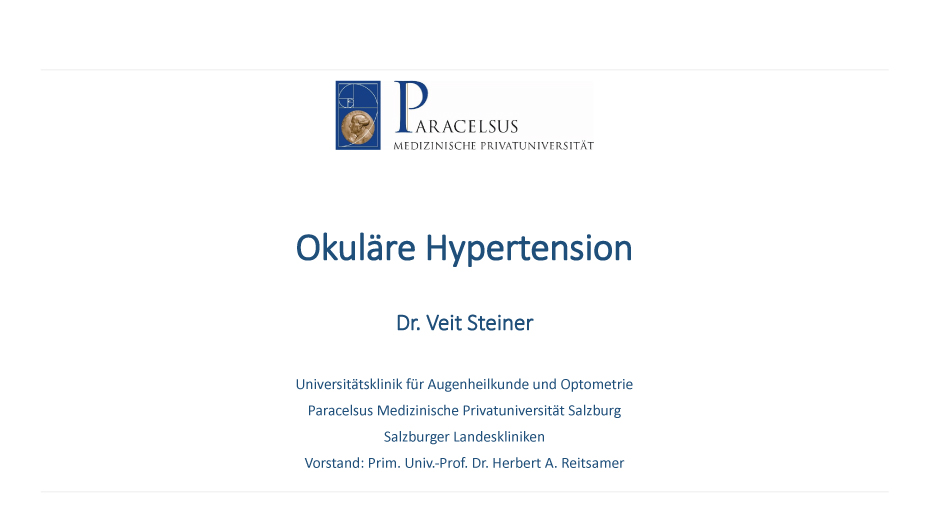 Okuläre Hypertension