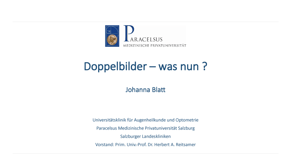 Doppelbilder  – was nun?