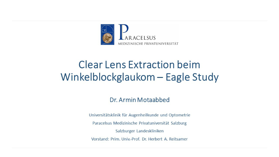 Clear Lens Extraction beim Winkelblockglaukom – Eagle Study